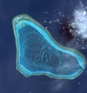 黄岩岛航拍图