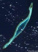 柏礁卫星图(拍摄于2015年7月24日)