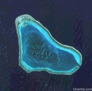 黄岩岛卫星图(拍摄于2014年12月27日)